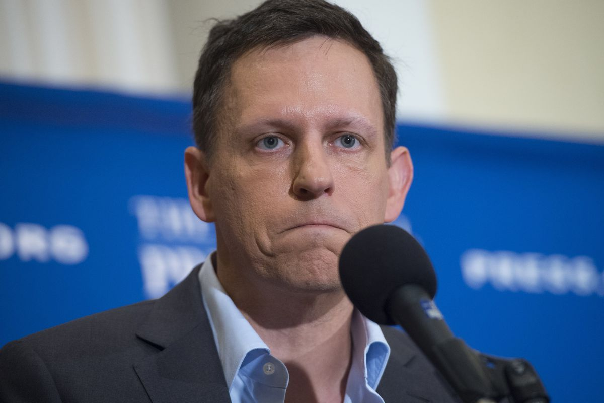PayPal founder-turned-venture-capitalist Peter Thiel discusses his support for U.S. Republican presidential nominee Donald Trump, at the National Press Club in Washington, D.C., Oct. 31, 2016.