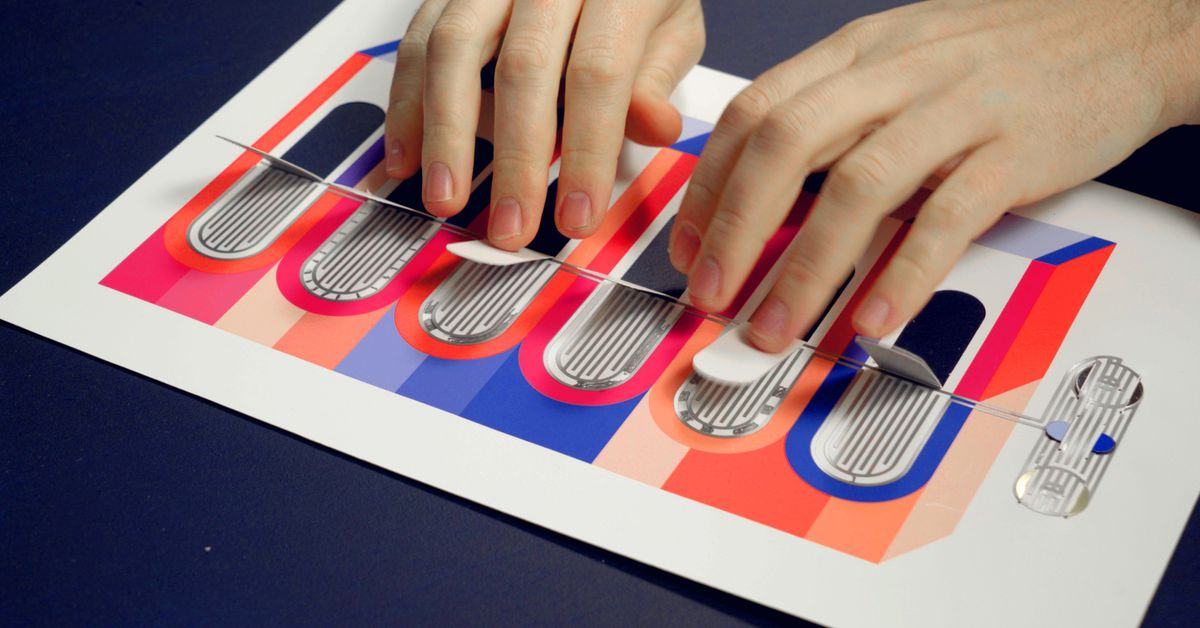 You can assemble this paper booklet to create electronic music toys