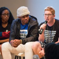 Parkland student Matthew Deitsch at the March For Our Lives town hall meeting at The DuPage Unitarian Universalist Church, Naperville, June 16th, 2018. | James Foster/For the Sun-Times