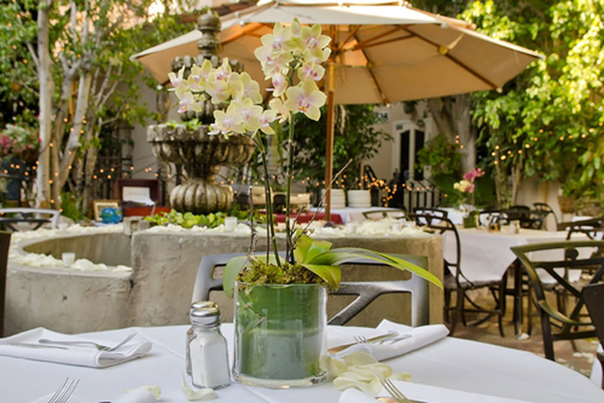 Patio at The Cat & Fiddle, Hollywood