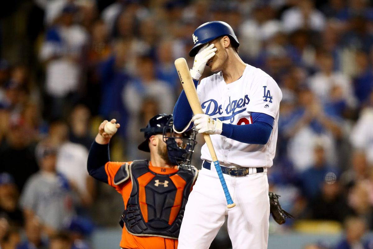 A Young Dodger Shows Emotion