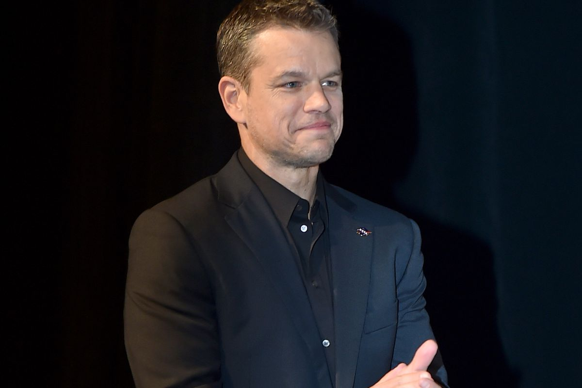 TORONTO, ON - SEPTEMBER 11: Actor Matt Damon attends 'The Martian' premiere during the 2015 Toronto International Film Festival at Roy Thomson Hall on September 11, 2015 in Toronto, Canada.  (Photo by Kevin Winter/Getty Images)