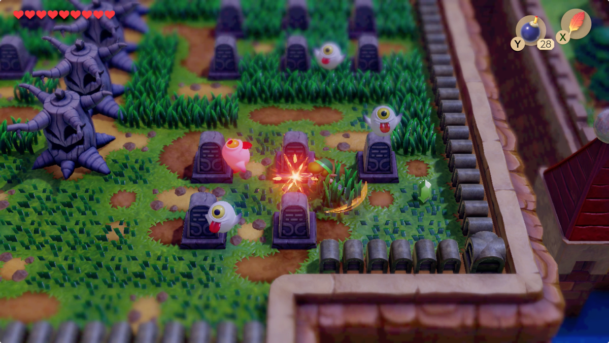 Link's Awakening Cemetery summon and clear the Ghinis before you start the puzzle