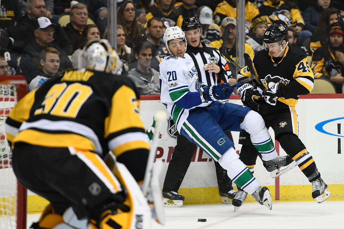 Vancouver Canucks v Pittsburgh Penguins