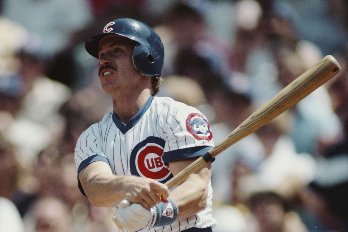 Ron Cey, third baseman for the Chicago Cubs at the plate during the Major League Baseball National League East game against the San Diego Padres on 4 May 1985 at  Wrigley Field, Chicago, United States. Cubs won 12-8.  (Photo by Jonathan Daniel/Allsport/Getty Images)