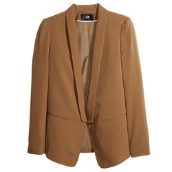 """<b>H&M</b> Dinner-jacket Blazer in Golden Brown, <a href=""""http://www.hm.com/us/product/10979?article=10979-F#article=10979-F"""">$34.95</a>"""