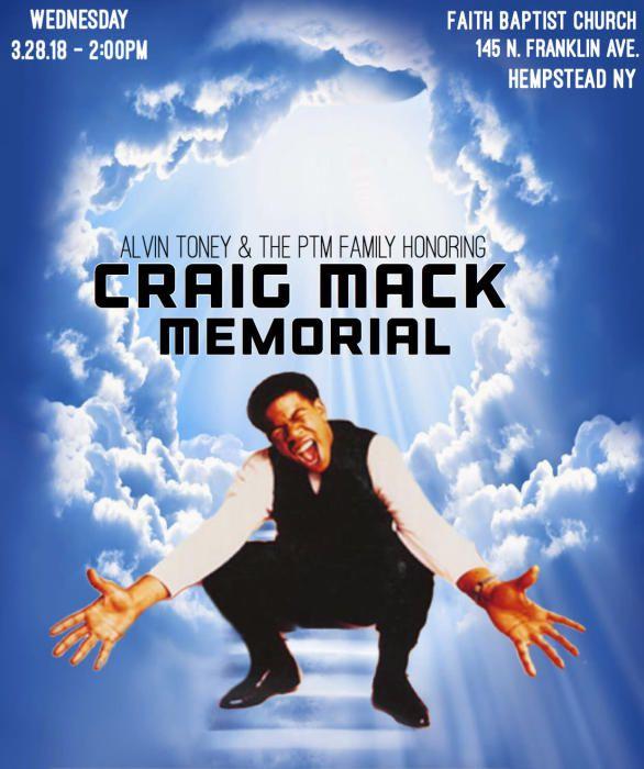 Craig Mack celebration memorial on Wednesday, March 28, 2018