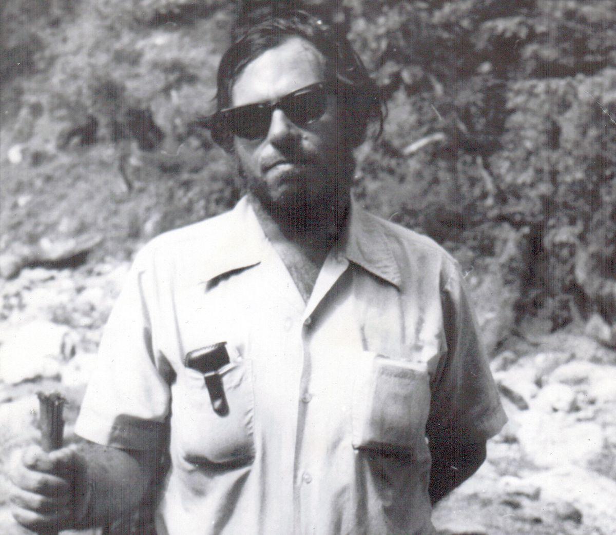 Marvin Weinstein hiking in Nepal in 1976.