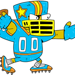 Football Player, <em>Hut Hut Hutium Footballus</em>: This football player rushes at you and knocks you back, doing damage. If move at the last minute you can get him to knock into other Earthlings.