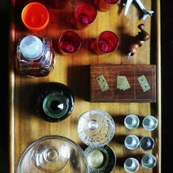 The fully-stocked bar cart has everything you need for a nightcap, except the booze.