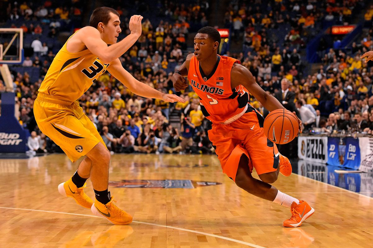Jalen Coleman-Lands driving in during the Braggin' Rights Game.