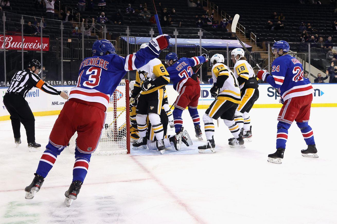 NHL: Pittsburgh Penguins at New York Rangers