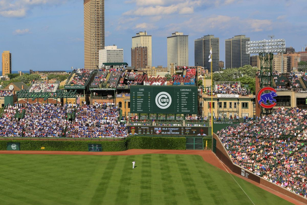 One of two video boards for which the Cubs now have city permits approved