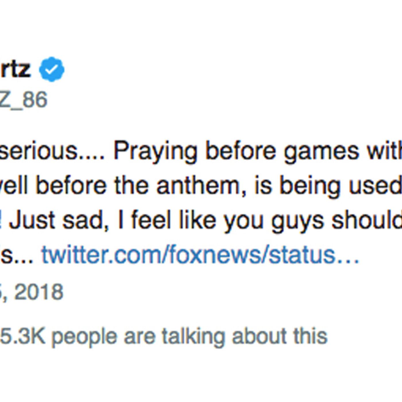 Eagles call out Fox News for portraying pregame prayer as
