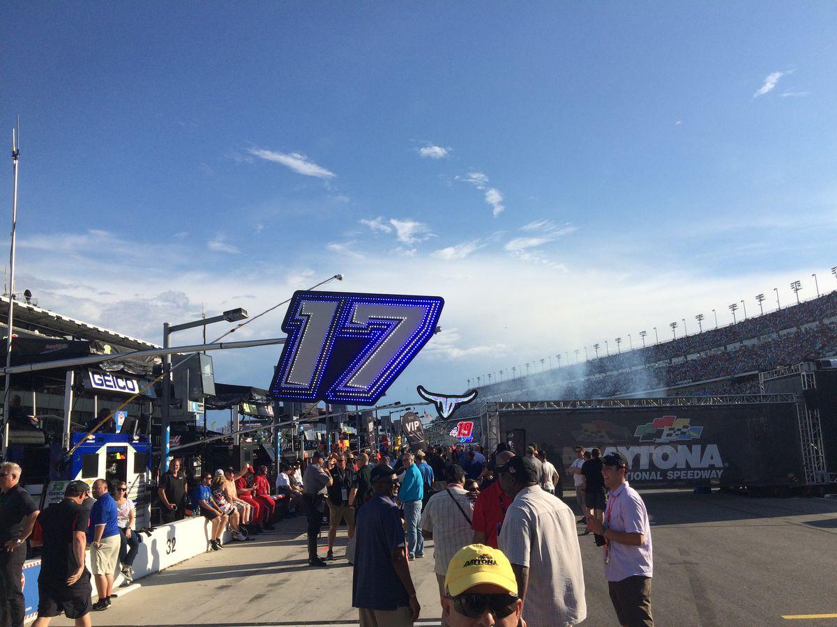 Fans around the Daytona National Speedway
