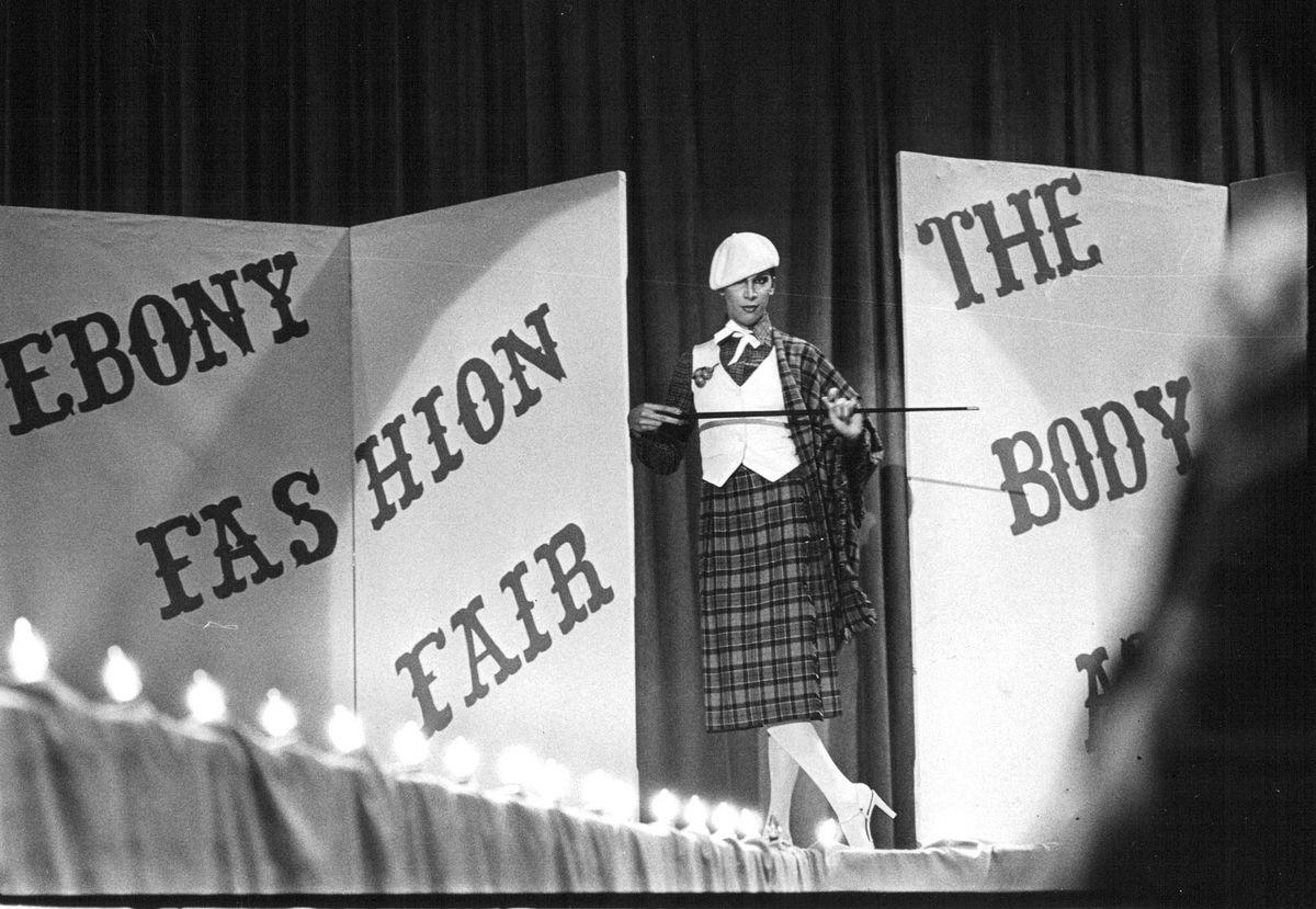 Johnson Publishing Co. began hosting Ebony Fashion Fair, a traveling fashion show, in the 1950s.  A makeup line followed.