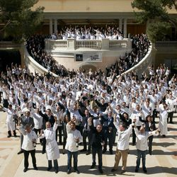 Cheers to the chefs, sommeliers and more who broke the Guinness World Record for most wine bottles uncorked at the same time.