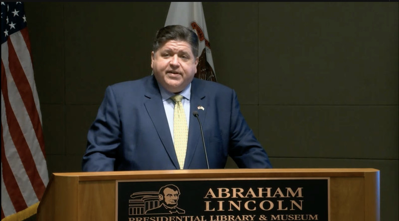 Gov. J.B. Pritzker kicks off a campaign promoting Illinois tourism at a news conference Wednesday.