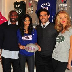 """<i>Brandon Jacobs, Chanel Iman, Mark Sanchez and Erin Heatherton via <a href=""""http://www.kennethinthe212.com/2010/11/mark-sanchez-knows-victorias-secret.html"""" rel=""""nofollow"""">Kenneth in the (212)</a></i>"""
