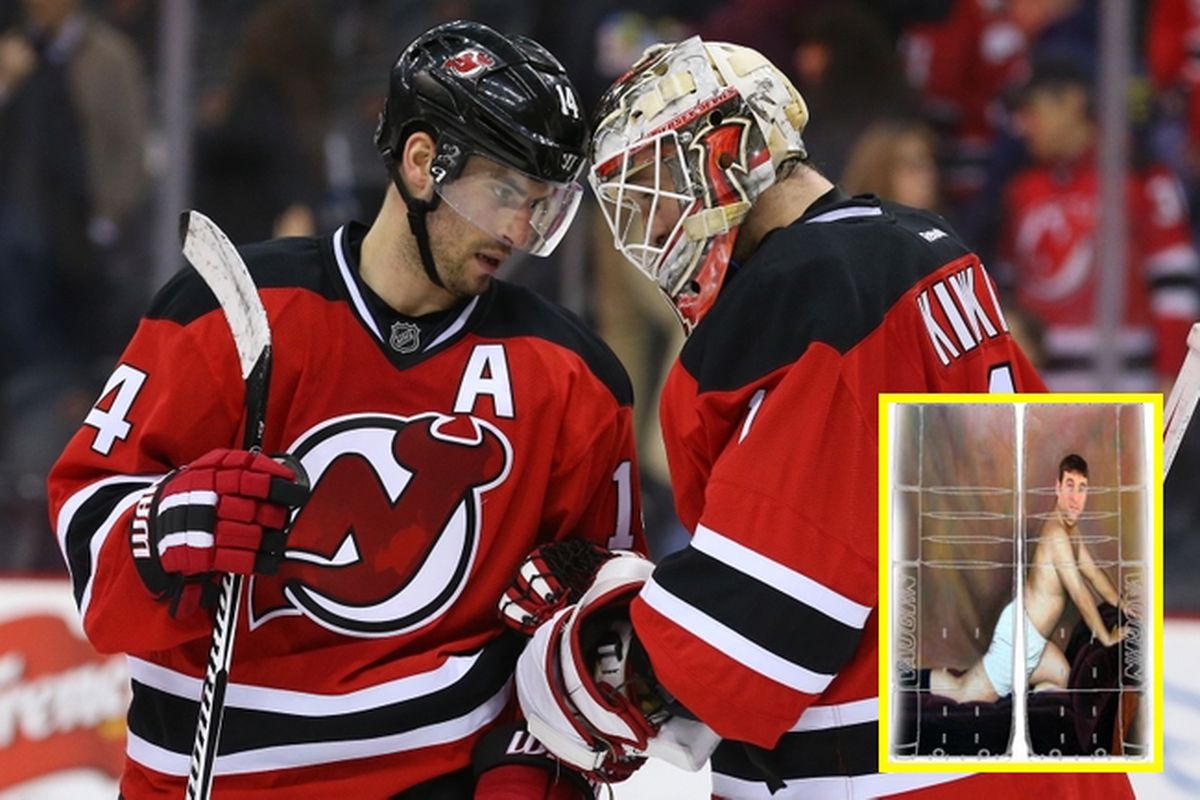 new concept d36bb aeda1 Devils teammates want their goalie to wear 'Seinfeld ...