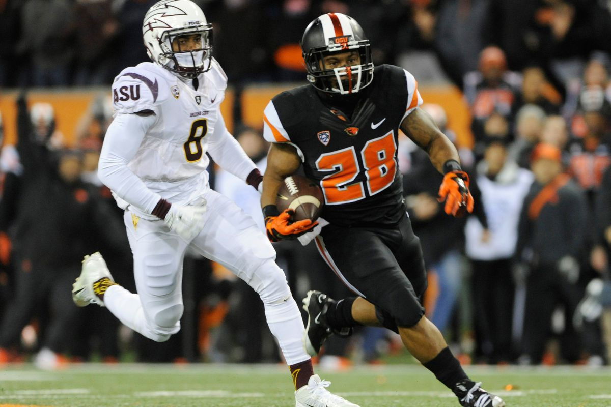The Oregon State running backs had a big game and helped lead the Beavs over Arizona State 35 to 27