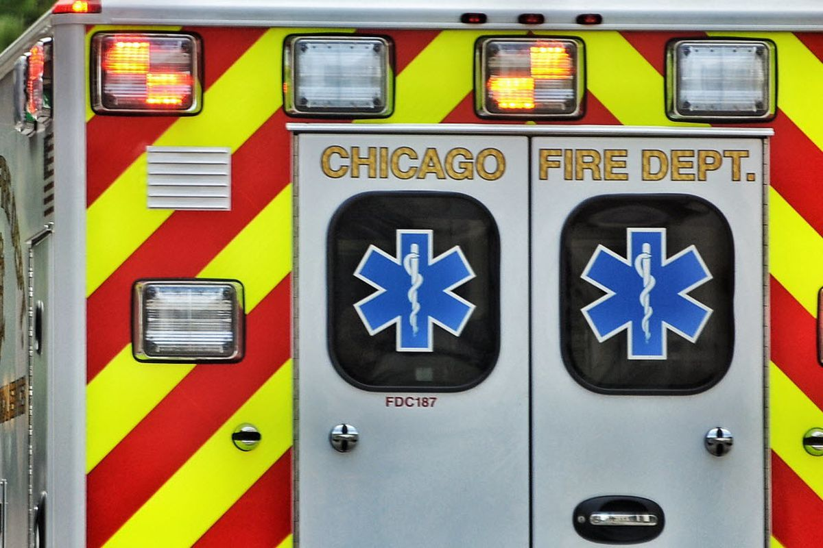 Five people were injured in a crash after a car fled a traffic stop Feb. 8, 2020, near Jackson Boulevard and Kedzie Avenue in Fifth City.