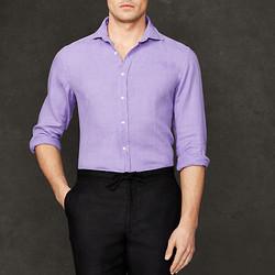 """Linen sport shirt, $105 (was $350) <a href="""" http://www.ralphlauren.com/home/index.jsp?ab=global_logo"""">Ralph Lauren</a>"""