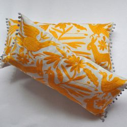 """<b>Culture Baby</b> Yucu Ninu Mexican Embroidered Cushion, <a href=""""http://www.culturebaby.com/collections/preview-collection"""">$115</a>"""