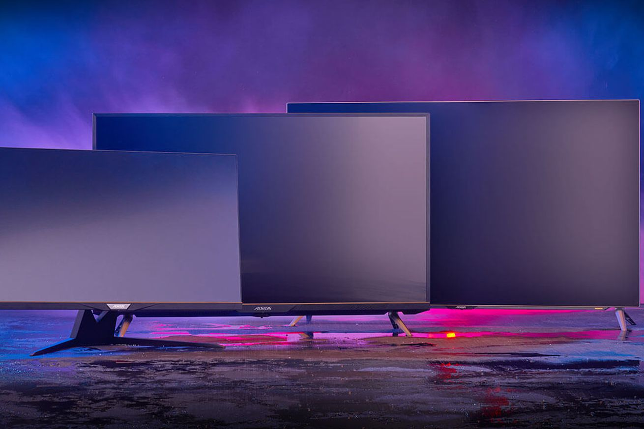 Gigabyte is announcing three gaming monitors with HDMI 2.1 and TV sizes