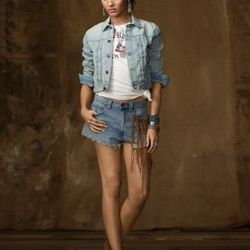 """<a href= """"http://www.ralphlauren.com/product/index.jsp?productId=12904739&cp=2943768.3510411&ab=viewall&view=all&parentPage=family"""">Denim & Supply Faded Denim Trucker Jacket</a>, was $150 now $67.49"""