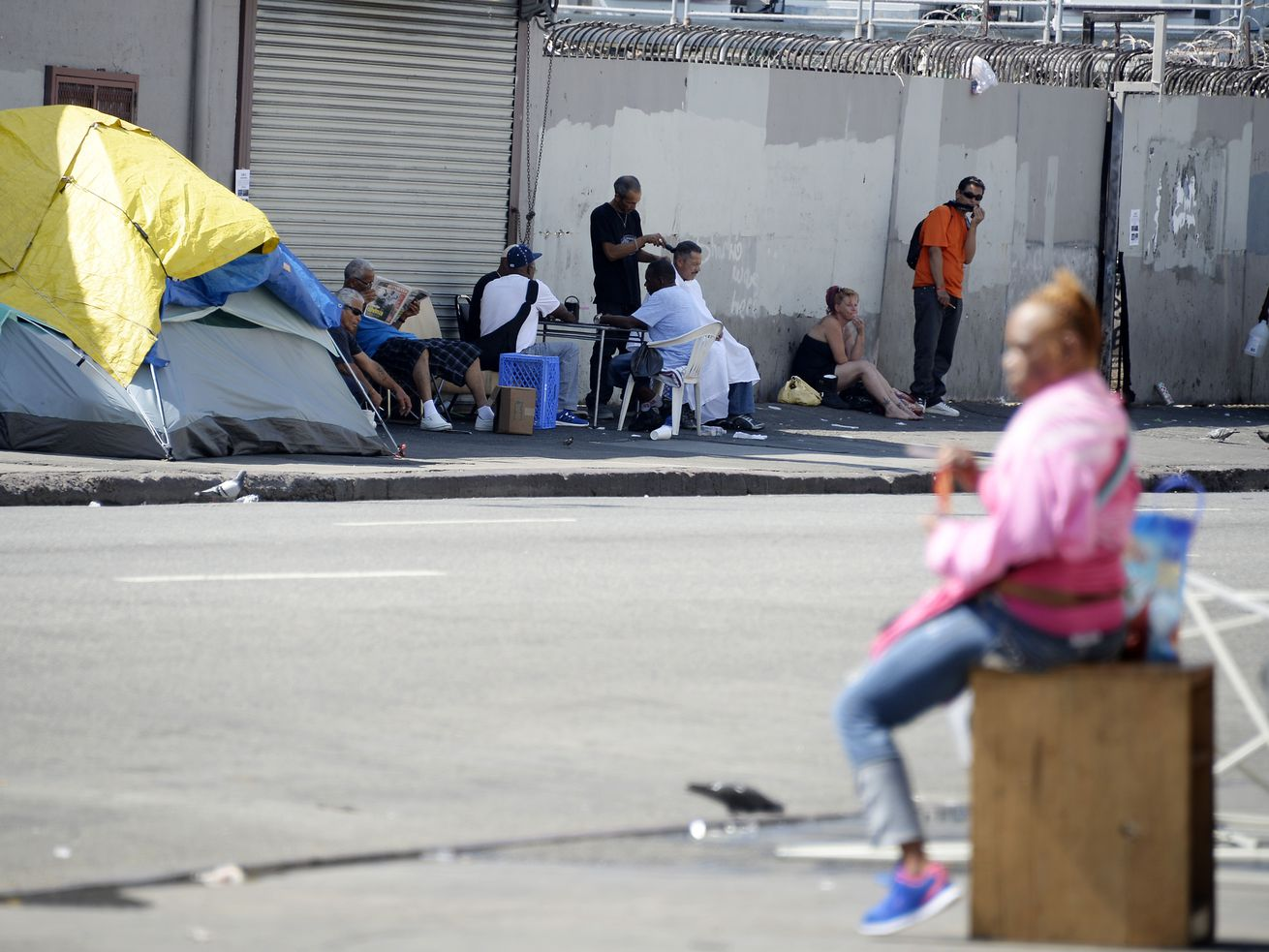 Skid Row, home to about 2,000 homeless residents.