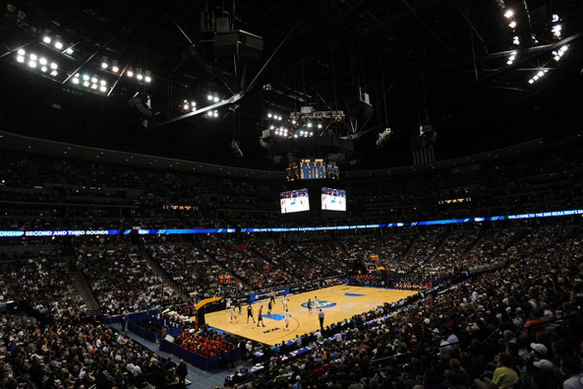 DENVER, CO - MARCH 17:  The Gonzaga Bulldogs play against the St. John's Red Storm during the second round of the 2011 NCAA men's basketball tournament at Pepsi Center on March 17, 2011 in Denver, Colorado.  (Photo by Michael Heiman/Getty Images)