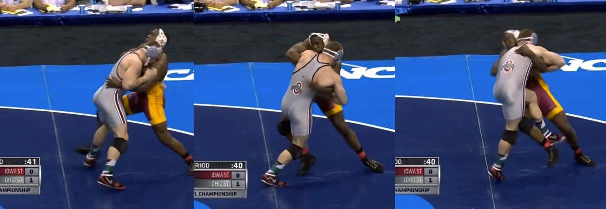 gadson starts his throw vs snyder