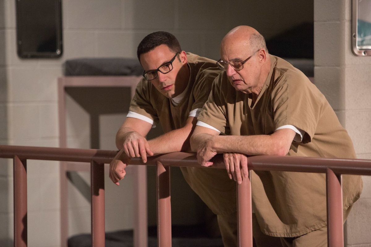 Ben Affleck and Jeffrey Tambor in The Accountant