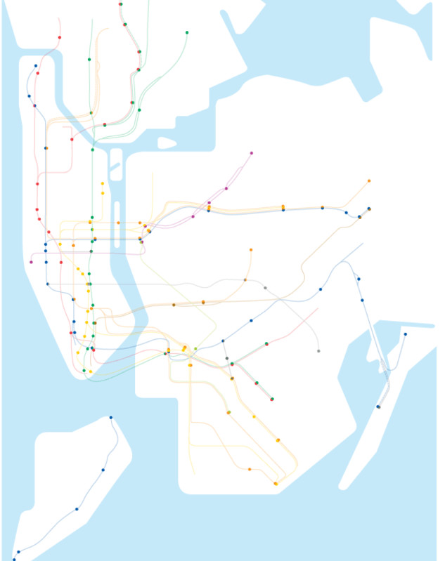Mta Subway Map Elevators.Modified Nyc Subway Map Shows Accessible Stations Curbed Ny