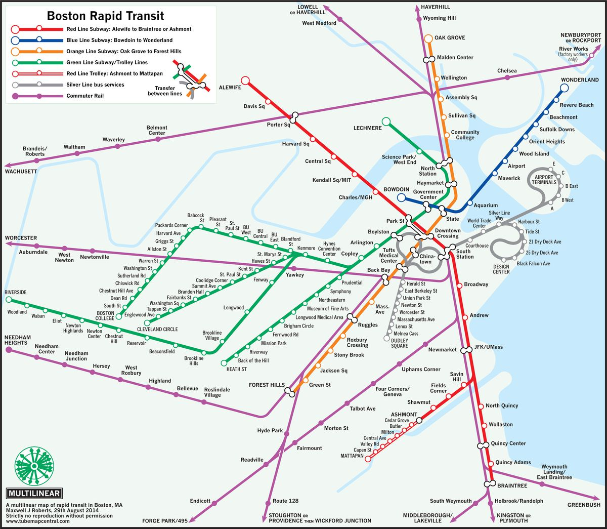 Alewife Subway Map.Outside The Lines 6 Maps That Re Imagine Boston S T Curbed Boston