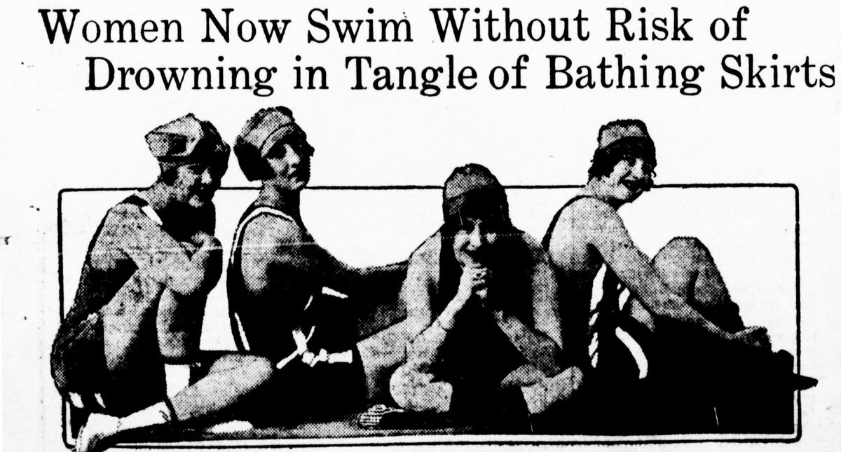 """The """"skirts be hanged girls"""" wanted swimsuits that you could swim in."""
