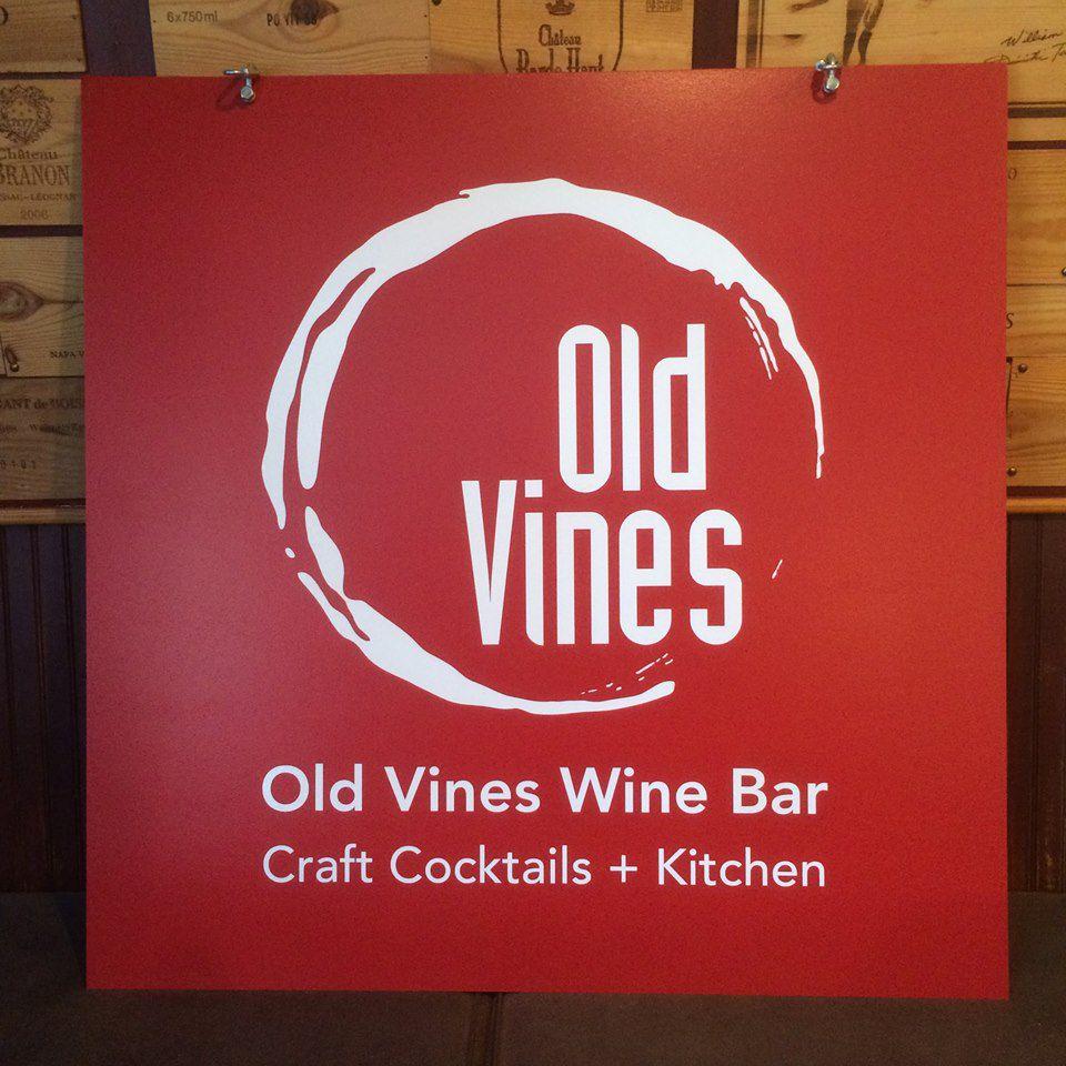 old vines wine bar new sign fb