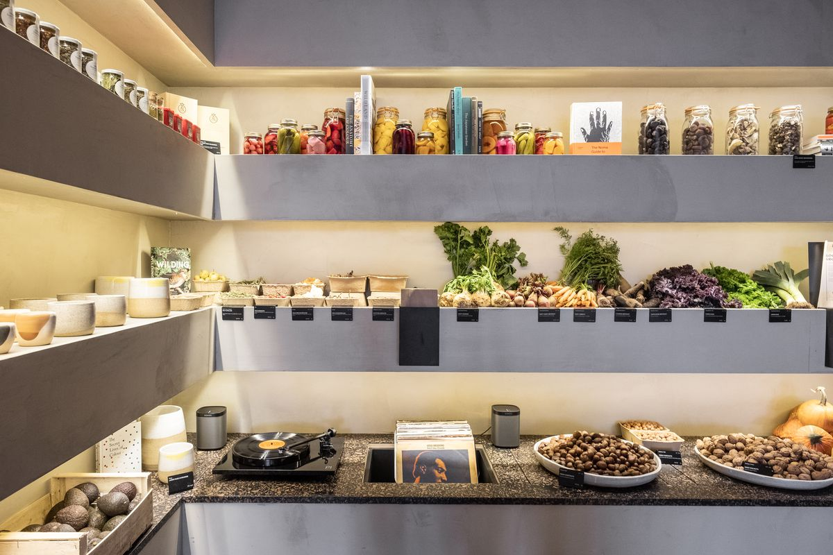 """Natoora's new produce store in Fulham, London, dubbed """"the Aesop of vegetables"""" by Wallpaper Magazine"""