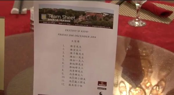 Wedding team sheet