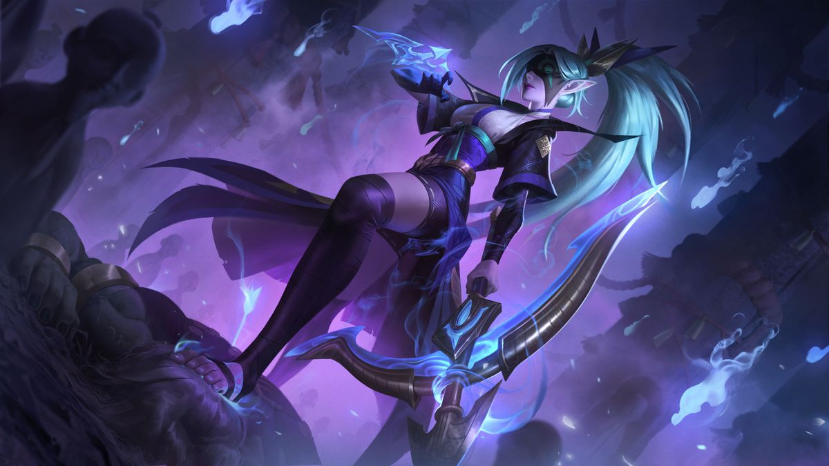Spirit Blossom Vayne stands over her enemies