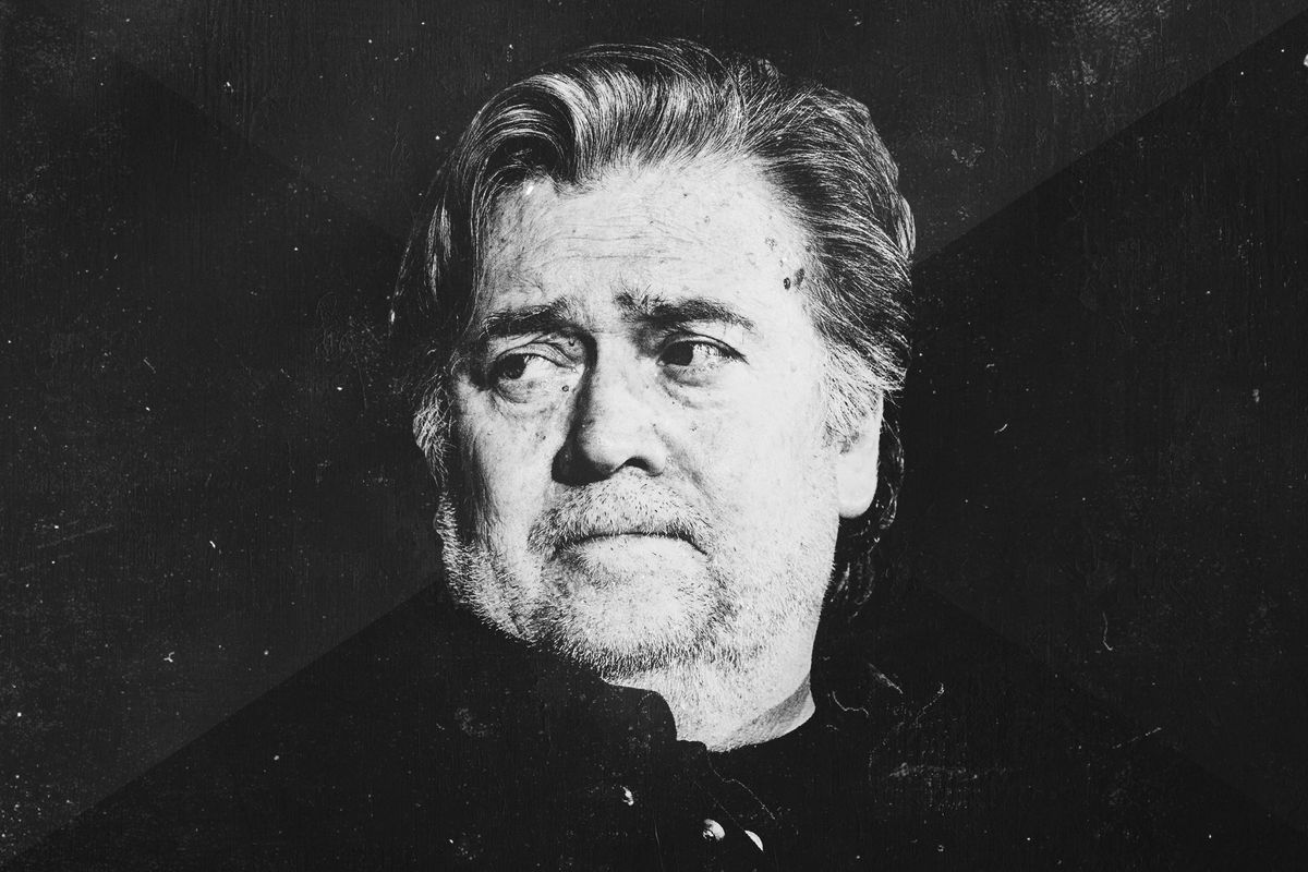 Black-and-white picture of Steve Bannon