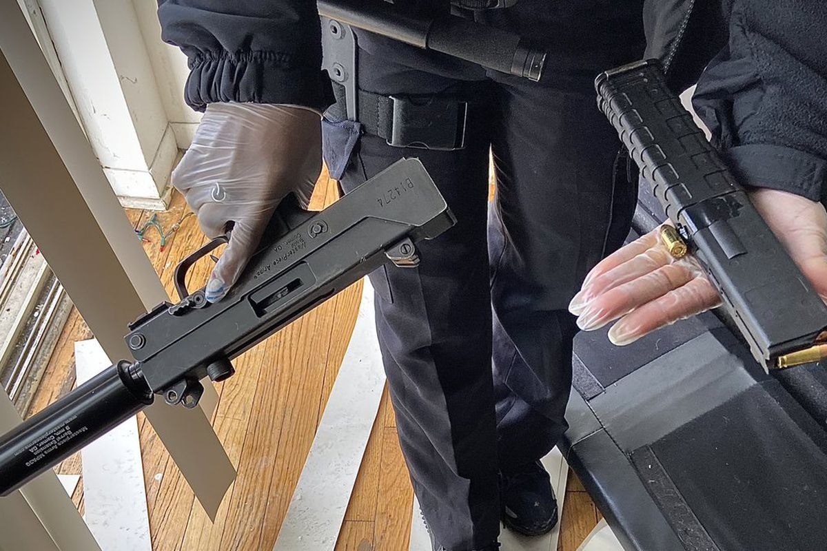 Police said they recovered this gun in connection to a shooting Thursday in Chicago Lawn.
