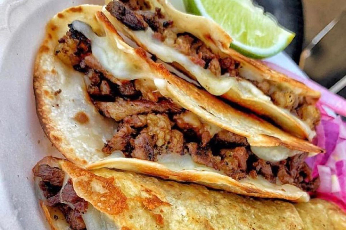 A plate of tacos al pastor, coming to the Strip from newcomer Tacos El Pastor.