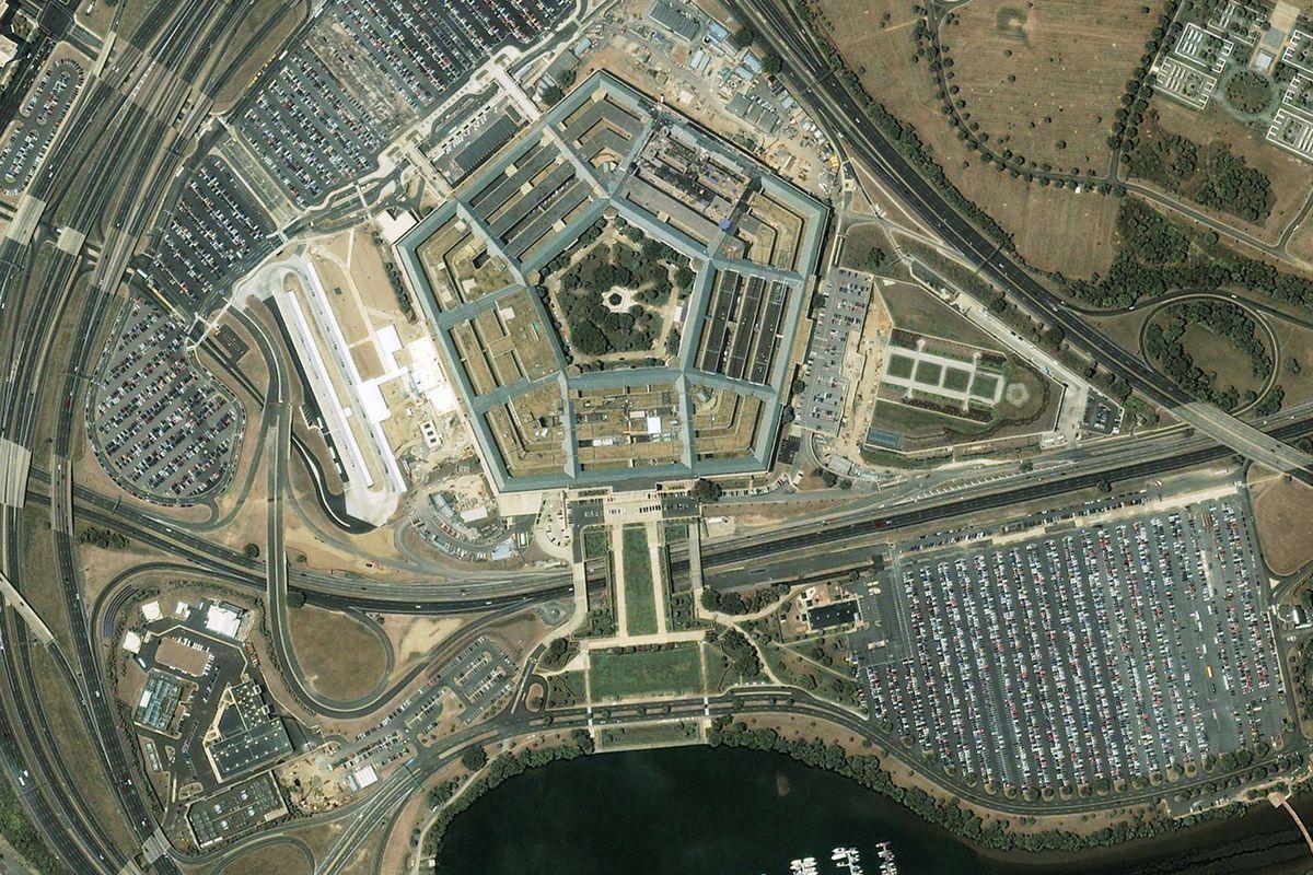 Satellite image of the Pentagon.