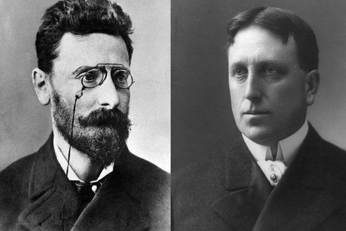 <em>Courtesy of Wikimedia Commons: Joseph Pulitzer (Author: unknown) and William Randolph Hearst (Author: J.E. Purdy)</em>