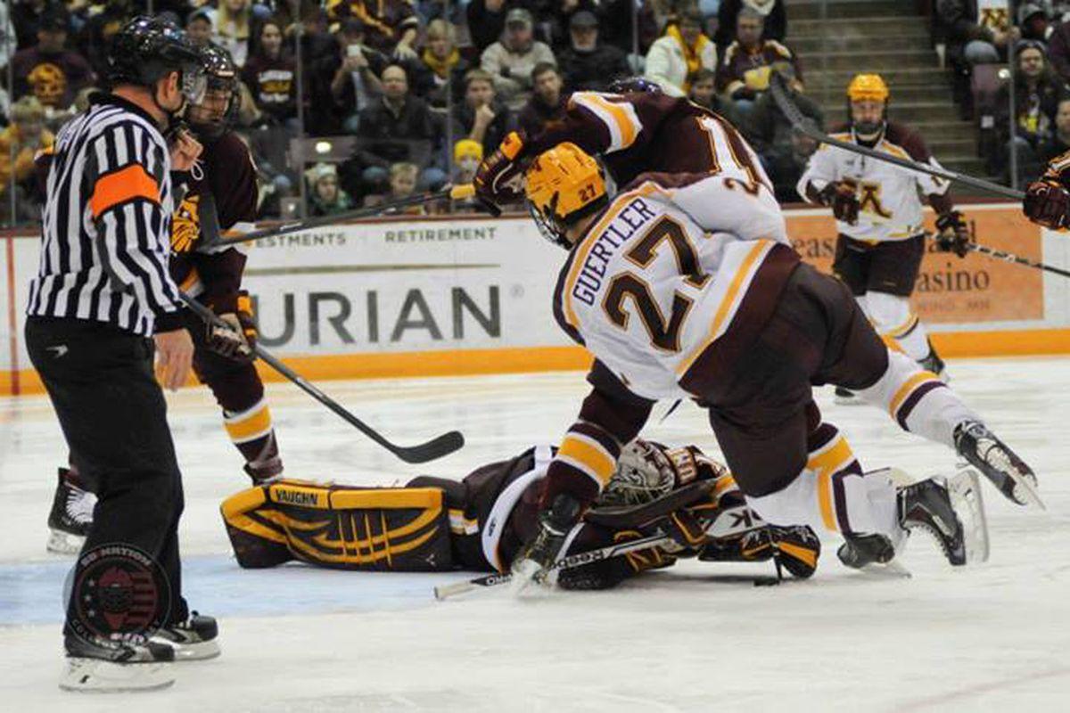 Gophers Hockey Gabe Guertler Leaves Minnesota For Ohl S Soo