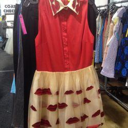 Lip-print dress, $279 (was $698)