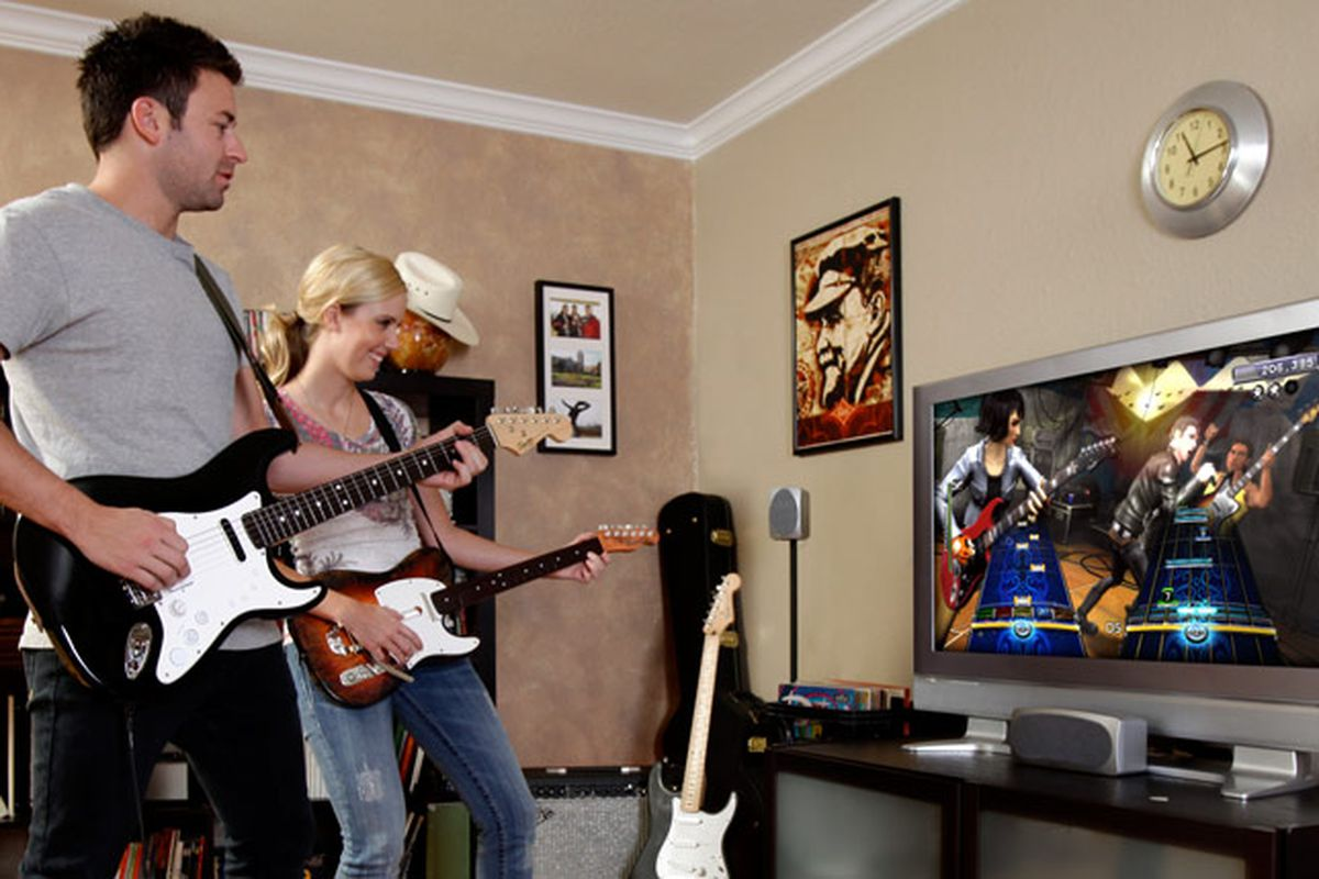 Playing Rock Band together lowers stress and makes people