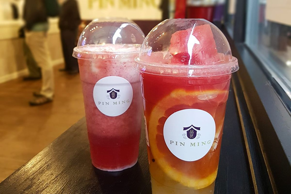 Tea beverages from Pin Ming